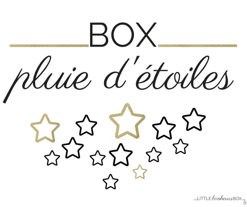 Little Bonheurs Box pluie d'etoiles or
