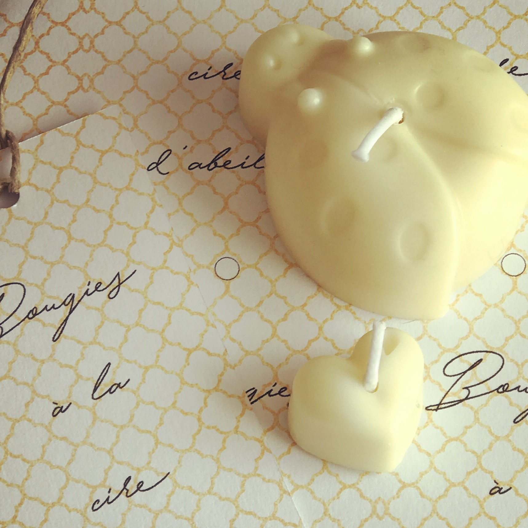 Bougies printanières à la cire d'abeille